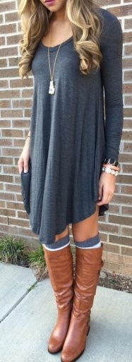 fall-fashion-gray-dress-373x1024